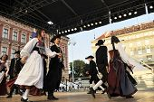 ZAGREB,CROATIA - JULY 19: Members of folk groups Schwabischer Albverein in German national costume d