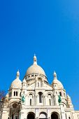 The Sacre-Coeur church in Montmartre,paris