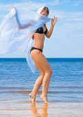 image of denude  - Model Beach Vacation  - JPG