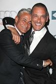 LOS ANGELES - SEP 7:  Greg Louganis, Johnny Chaillot at the