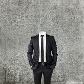 business man without head