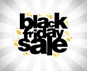 stock photo of special day  - Black friday sale banner - JPG