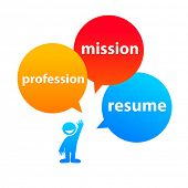 components: the profession-resume-mission