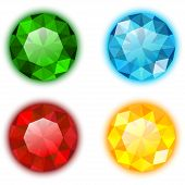 The Set of Four Colorful Gems
