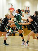 SIOFOK, HUNGARY - SEPTEMBER 14: Eduarda Amorim (in green) in action at a Hungarian National Champion