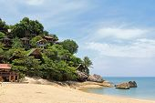 PHA NGAN ISLAND, THAILAND - JUNE 23 : Bungalows on the rock on 23 June 2012 in Koh Pha ngan, the south of Thailand