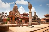 stock photo of shankar  - Narsingha Temple at Durbar Sqaure in Patan - JPG