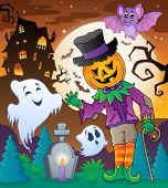 Halloween character scene 5 - eps10 vector illustration.