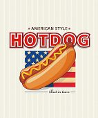 HotDog Day. Vector illustration.