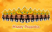 pic of dussehra  - illustration of Raavana with ten heads for Dussehra - JPG