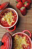 Strawberry Crumble In Ramekins