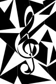 Abstract Musical Key Illustration