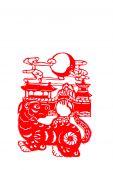 dog, paper cutting Chinese Zodiac.