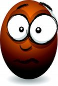 cartoon concerned orange egg face