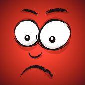 worried cartoon face