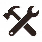 Wrench And Hammer. Tools Icon