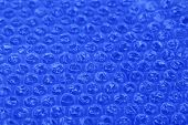 Color plastic bubble packing material, close-up