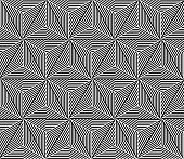 Seamless Triangle Elements Pattern. Vector Illustration