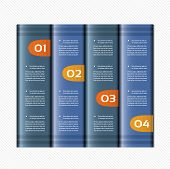 Paper numbered banners. Vector design template. eps 10