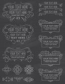 Vintage Chalkboard Calligraphy Design Elements Eight