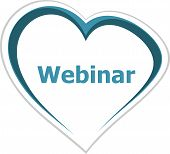 Marketing Concept, Webinar Word On Love Heart