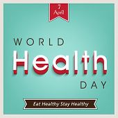 Abstract world heath day concept with stylish text on green background, can be use as poster, banner