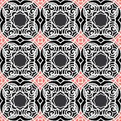 Vintage vector art deco pattern in dark colors