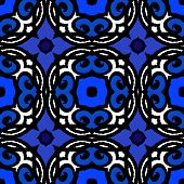 Vector ethnic pattern with Turkish motifs