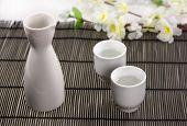 sake - a traditional Japanese alcoholic beverage