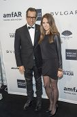 NEW YORK-FEB 5: Designer Kenneth Cole and Emily Cole attend the 2014 amfAR New York Gala at Cipriani Wall Street on February 5, 2014 in New York City.
