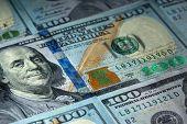 New hundred Dollar Bills for background