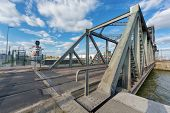 Bridge over the Van Cauwelaert lock in Antwerp world port