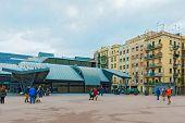Mercat De La Barceloneta In Barcelona, Spain