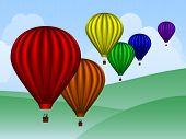 Balloons Over Hills