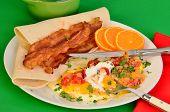 Huevos Rancheros With Bacon