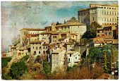 pictorial Todi, Umbria. artwork in painting style