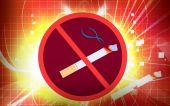 Постер, плакат: Логотип для некурящих