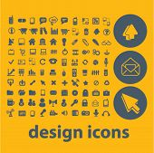 web design, internet icons, buttons, symbols, buttons isolated set, vector on background