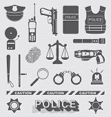 Police Officer and Detective Icons