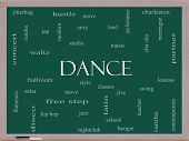 picture of jive  - Dance Word Cloud Concept on a Blackboard with great terms such as music classes ballroom and more - JPG