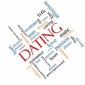 Dating Word Cloud Concept Angled