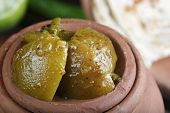 Plain Lemon Pickle - An Indian Pickle Made Of Lime Or Nimbu