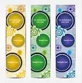 Vertical Floral Banner / Bookmark / background. eps 10