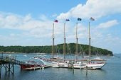 The Margaret Todd ship in historic Bar Harbor, Maine