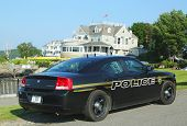 Bar Harbor Police Department car in Maine