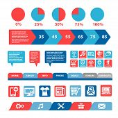 flat mobile infographics template