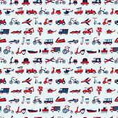 Retro Transport Pattern