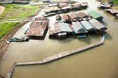 Float Village On Songkaria River