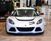 London, UK - CIRCA JULY 2012: A Lotus Exige S is on display in the Lotus Originals Store on regent s