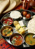 Gujarati Thali from India